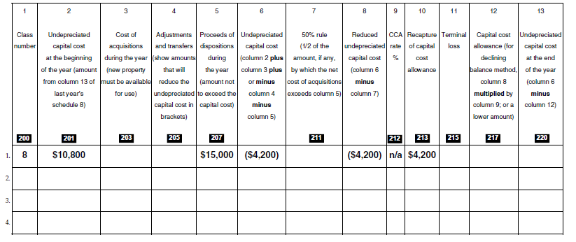 Recapture Tax Calculation